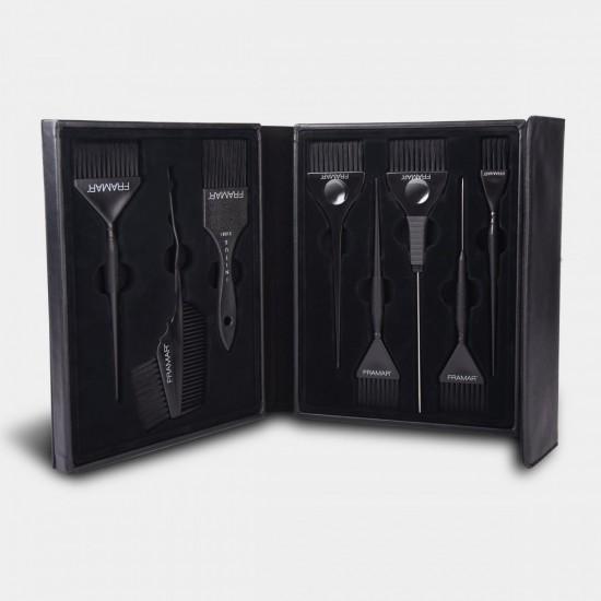 Framar Jet Set 8 Parça Fırça Seti + Özel Deri Çanta