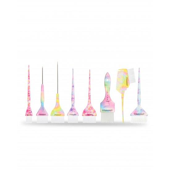 FRAMAR Renkli Fırça Seti ve Deri Çanta Sınırlı Üretim