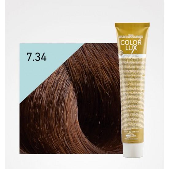 Color Lux 7.34 Medium Blonde Golden Copper